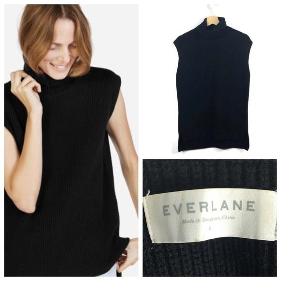 d59b0ad3fa90ec Everlane Sweaters - Everlane wool sleeveless turtleneck
